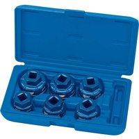 Draper Expert 6 Piece 1/2 Drive Oil Filter Cap Socket Set 1/2