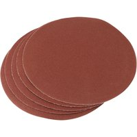Draper 200mm Diameter Aluminium Oxide Sanding Discs 200mm 100g Pack of 5