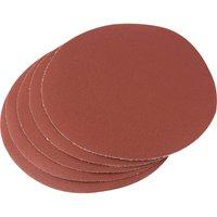 Draper 200mm Diameter Aluminium Oxide Sanding Discs 200mm 120g Pack of 5