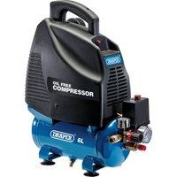 Draper DA6/169 Oil Free Air Compressor 6 Litre 240v