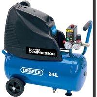 Draper DA25/169 Oil Free Air Compressor 24 Litre 240v