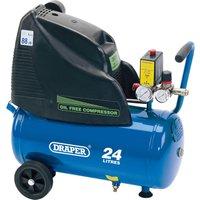 Draper DA25 169 Oil Free Air Compressor 24 Litre 240v