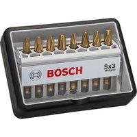 Bosch 8 Piece Sx3 Max Grip Phillips and Pozi Screwdriver Bit Set