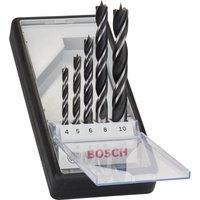 Bosch 5 Piece Brad Point Wood Drill Bit Set