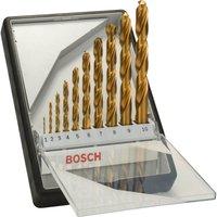 Bosch Robust Line 10 Piece HSS TiN Drill Bit Set