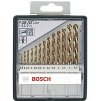 Bosch Robust Line 13 Piece HSS-TiN Drill Bit Set