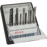 Bosch 10 Piece Metal and Wood Cutting Jigsaw Blade Set