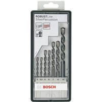 Bosch 7 Piece Silver Percussion Masonry Drill Bit Set
