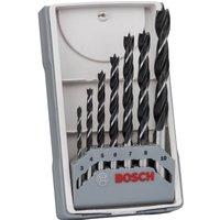 Bosch 7 Piece Brad Point Wood Drill Bit Set