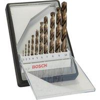 Bosch Robust Line 10 Piece HSS Co Drill Bit Set
