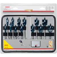 Bosch 13 Piece Self Cut Speed Flat Wood Drill Bit Set