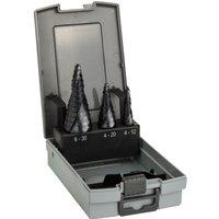 Bosch 3 Piece HSS-AlTiN Step Drill Bit Set
