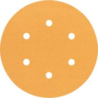 Bosch Red Wood Top Sanding Disc 150mm 150mm 120g Pack of 5