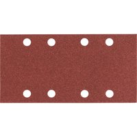 Bosch Punched Hook and Loop Sanding Sheets 93mm x 186mm 80g Pack of 10