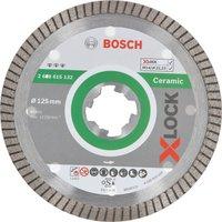 Bosch X Lock Best Extraclean Turbo Diamond Disc for Ceramics 125mm 1 4mm 22mm