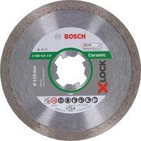 Bosch X Lock Standard Diamond Cutting Disc for Ceramics 115mm 1 6mm 22mm