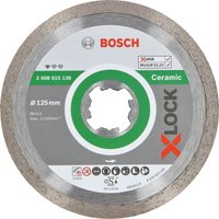 Bosch X Lock Standard Diamond Cutting Disc for Ceramics 125mm 1 6mm 22mm