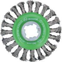 Bosch X Lock Stainless Steel Knotted Wire Wheel 115mm X Lock