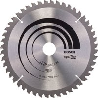 Bosch Optiline Wood Cutting Mitre Saw Blade 216mm 48T 30mm