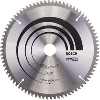 Bosch Optiline Wood Cutting Mitre Saw Blade 254mm 80T 30mm