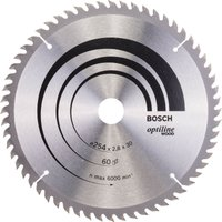 Bosch Optiline Wood Cutting Mitre Saw Blade 254mm 60T 30mm