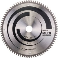 Bosch Multi Material Cutting Mitre and Table Saw Blade 254mm 80T 30mm