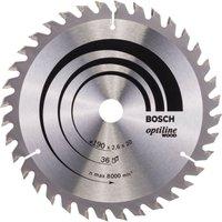 Bosch Optiline Wood Cutting Saw Blade 190mm 36T 20mm