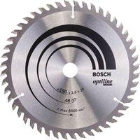 Bosch Optiline Wood Cutting Saw Blade 190mm 48T 20mm