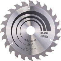 Bosch Optiline Wood Cutting Saw Blade 210mm 24T 30mm