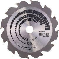 Bosch Construct Wood Cutting Saw Blade 160mm 12T 20mm