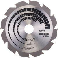 Bosch Construct Wood Cutting Saw Blade 190mm 12T 30mm