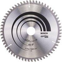 Bosch Optiline Wood Cutting Mitre Saw Blade 216mm 60T 30mm