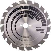 Bosch Construct Nail Proof Wood Cutting Table Saw Blade 300mm 20T 30mm