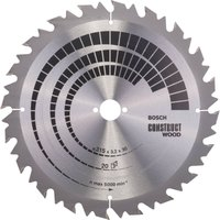 Bosch Construct Wood Cutting Table Saw Blade 315mm 20T 30mm