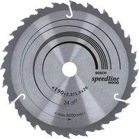 Bosch Speedline Wood Cutting Saw Blade 190mm 24T 20mm