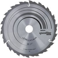 Bosch Speedline Wood Cutting Saw Blade 230mm 18T 30mm