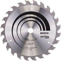 Bosch Optiline Wood Cutting Saw Blade 184mm 24T 16mm