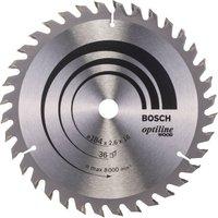 Bosch Optiline Wood Cutting Saw Blade 184mm 36T 16mm