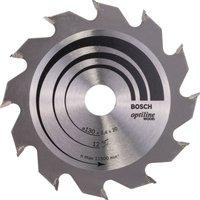 Bosch Optiline Wood Cutting Saw Blade 130mm 12T 20mm