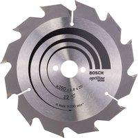 Bosch Optiline Wood Cutting Saw Blade 160mm 12T 20mm