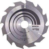 Bosch Optiline Wood Cutting Saw Blade 190mm 12T 30mm