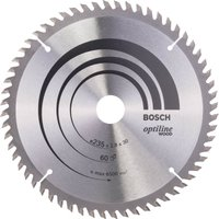 Bosch Optiline Wood Cutting Saw Blade 235mm 60T 30mm