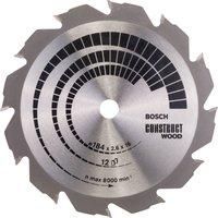 Bosch Construct Wood Cutting Saw Blade 184mm 12T 16mm