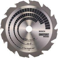 Bosch Construct Wood Cutting Saw Blade 190mm 12T 20mm