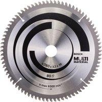 Bosch Multi Material Cutting Saw Blade 260mm 80T 30mm