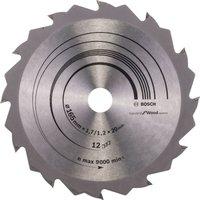 Bosch Speedline Wood Cutting Saw Blade 165mm 12T 20mm