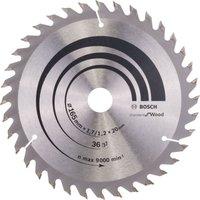 Bosch Optiline Wood Cutting Saw Blade 165mm 36T 20mm