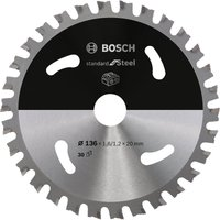 Bosch Cordless Circular Saw Blade for Steel 136mm 30T 20mm