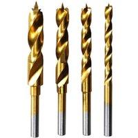 Dremel 4 Piece Titanium Coated Brad Point Wood Drill Bit Set