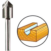 Dremel 640 V Groove Router Bit 6.4mm Pack of 1
